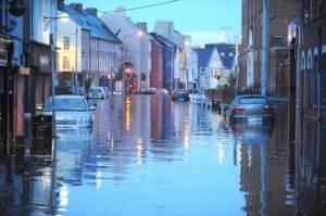 Flooded Street in Ireland